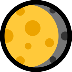 Waning Gibbous Moon Emoji on Windows
