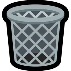 Wastebasket Emoji on Windows