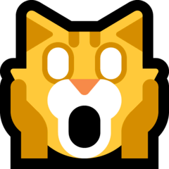 Weary Cat Emoji on Windows