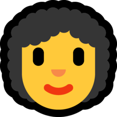 Woman, Curly Haired Emoji on Windows