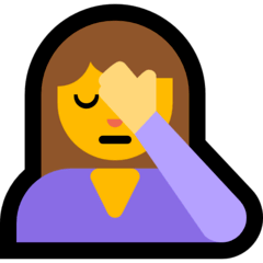 Woman Facepalming Emoji on Windows