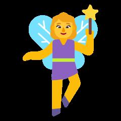 Woman Fairy Emoji on Windows