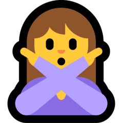Woman Gesturing NO Emoji on Windows