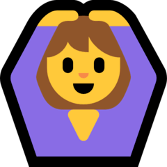 Woman Gesturing OK Emoji on Windows