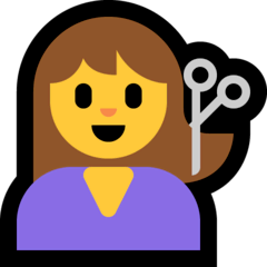 Woman Getting Haircut Emoji on Windows