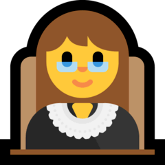 ️Woman Judge Emoji on Windows