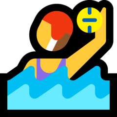 Woman Playing Water Polo Emoji on Windows