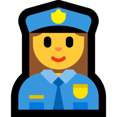 Woman Police Officer Emoji on Windows