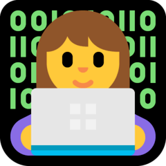 Woman Technologist Emoji on Windows