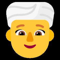 Woman Wearing Turban Emoji on Windows