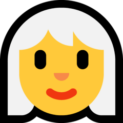 Woman, White Haired Emoji on Windows