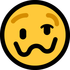 Woozy Face Emoji on Windows