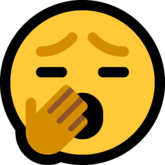 Yawning Face Emoji on Windows