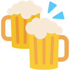 Clinking Beer Mugs Emoji in Mozilla Browser