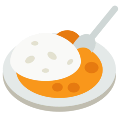 Curry Rice Emoji in Mozilla Browser