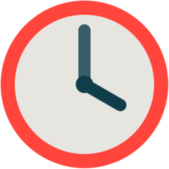 Four O'clock Emoji in Mozilla Browser