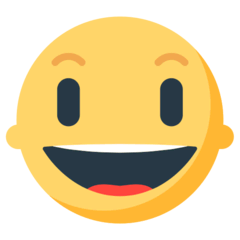 Grinning Face With Big Eyes Emoji in Mozilla Browser