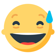 Grinning Face With Sweat Emoji in Mozilla Browser