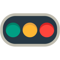 Horizontal Traffic Light Emoji in Mozilla Browser