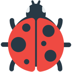 Lady Beetle Emoji in Mozilla Browser