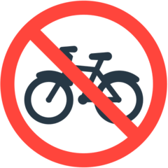 No Bicycles Emoji in Mozilla Browser