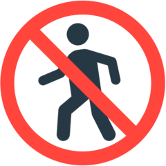 No Pedestrians Emoji in Mozilla Browser