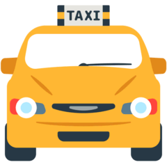 Oncoming Taxi Emoji in Mozilla Browser