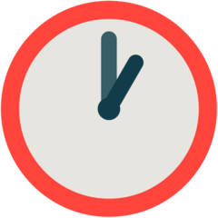 One O'clock Emoji in Mozilla Browser