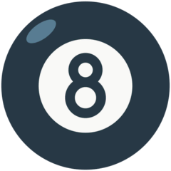 Pool 8 Ball Emoji in Mozilla Browser