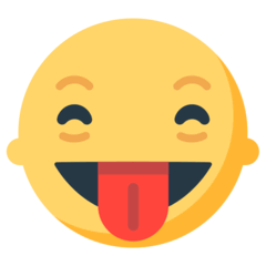 Squinting Face With Tongue Emoji in Mozilla Browser