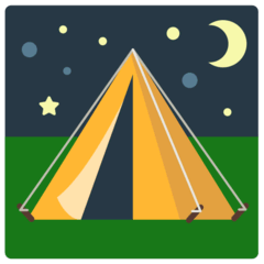Tent Emoji in Mozilla Browser