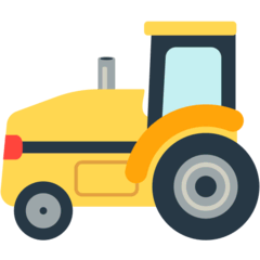 Tractor Emoji in Mozilla Browser