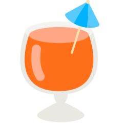 Tropical Drink Emoji in Mozilla Browser