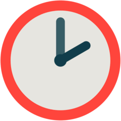 Two O'clock Emoji in Mozilla Browser