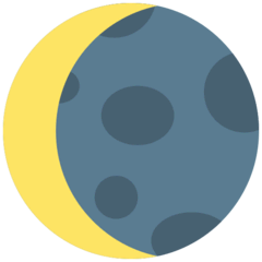 Waning Crescent Moon Emoji in Mozilla Browser