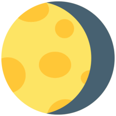 Waning Gibbous Moon Emoji in Mozilla Browser