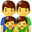 Family: Man, Man, Boy, Boy Emoji on Samsung Phones