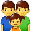 Family: Man, Man, Girl Emoji on Samsung Phones
