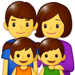 Family: Man, Woman, Girl, Boy Emoji on Samsung Phones