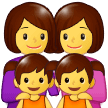 Family: Woman, Woman, Girl, Girl Emoji on Samsung Phones