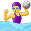 Woman Playing Water Polo Emoji on Samsung Phones