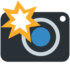 Camera With Flash Emoji on Twitter