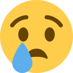 Crying Face Emoji on Twitter