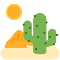 Desert Emoji on Twitter