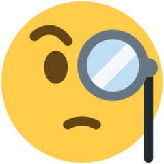 Face With Monocle Emoji on Twitter