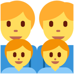 Family: Man, Man, Boy, Boy Emoji on Twitter