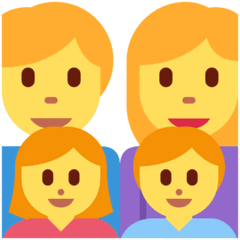 Family: Man, Woman, Girl, Boy Emoji on Twitter