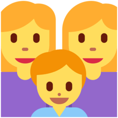 Family: Woman, Woman, Boy Emoji on Twitter