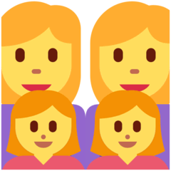 Family: Woman, Woman, Girl, Girl Emoji on Twitter