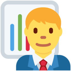 Man Office Worker Emoji on Twitter